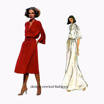 70s VOGUE DRESS PATTERN Maxi Dress Pattern Day Cocktail Dress Renata Vogue 1860 French Boutique Size 10 UNCuT Vintage Womens Sewing Patterns