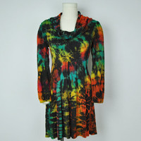 Cowl Neck Mudmee Dress -- Mexicali Blues