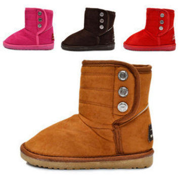 Thick girls winter  ankle snow  boots for boys  indoor home boots male female  kids warm cotton-padded shoes home slippers