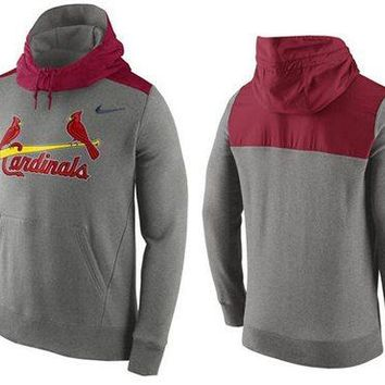 St Louis Cardinals Nike MLB Gray/red Ultra Fleece Pullover Hoodie