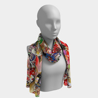 Gamblers Delight - Las Vegas Icons Long Scarf