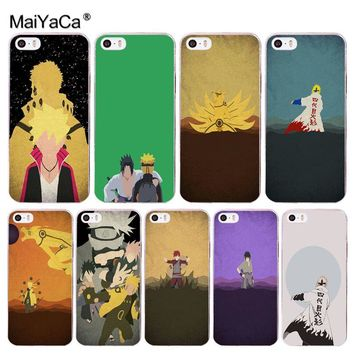 MaiYaCa Anime Naruto  Minimalist Phone Accessories Case for Apple iPhone 8 7 6 6S Plus X 5 5S SE XR XS XS MAX Cover