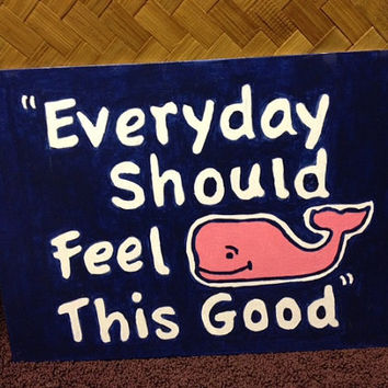 Vineyard vines whale inspired artwork