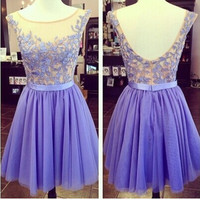 short bridesmaid Dress,lilac bridesmaid Dress,bridesmaid dressn for girls,homecoming prom dress,PD144