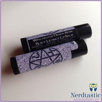 Supernatural Demon Bomb Lip Balm Tube (Geek Makeup)