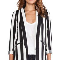 MINKPINK All Down To You Blazer in Black & White