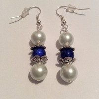 Elegant White & Blue Jewelry Set