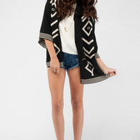 Dolce Vita Kimora Cardigan in Black and White