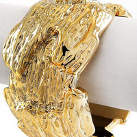 "30% off use promo code ""wanelo"" at checkout. Molten Gold Statement Bracelet"