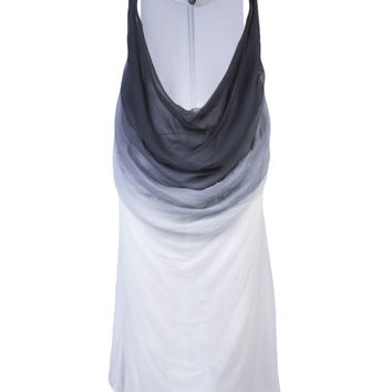 Drape Front Dress in Black and White