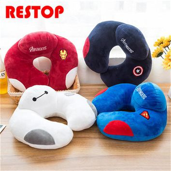 Marvel Hero Series U Shape Neck Pillow Car Head Rest Neck Pillow Cushion Pillows Travel Home Office Accessory RES618