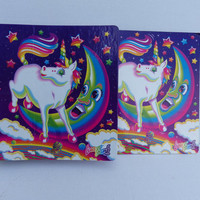 "Amazing RARE 1980s Lisa Frank ""Markie"" binder with matching folder!"