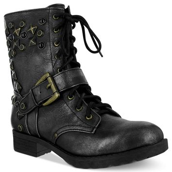 Mia Boots, Spikee Studded Combat Booties - Juniors' Shoes - Shoes - Macy's
