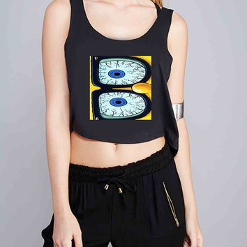 Spongebob Glasses for Crop Tank Girls S, M, L, XL, XXL *07*