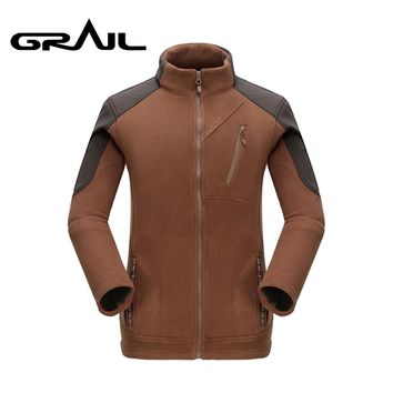 GRAIL Brand Softshell Outdoor Men Thicken Warm Polar Fleece Jacket Polartec Men's Jacket Coats Windstopper Outwear Clothing5327A