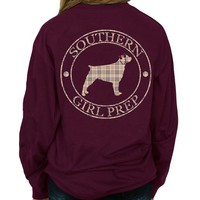 "*Closeout* Southern Girl Prep  ""Fall Plaid"" Long Sleeve T-shirt"