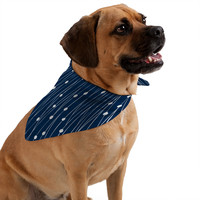 Heather Dutton Navy Entangled Pet Bandana