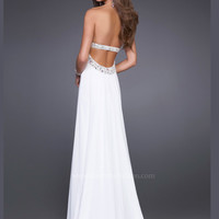 Beaded La Femme Prom Gown 15027