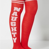 Naughty or Nice Over-the-Knee Socks