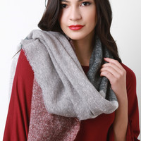 Marled Knit Fused Stripes Scarf