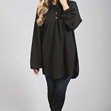 whitney ruffle tunic [black]