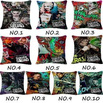 The New movie Suicide Squad The Joker Cushions Linen Cushion Cover Modern Style Throw Pillow For Living Room Bed Room