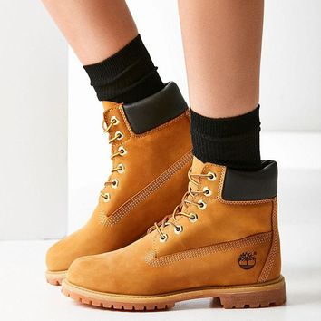 """""""Timberland"""" Boos With Upper Leather Wheat yellow"""