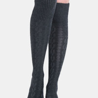 Cecile Cable Knit Knee Highs