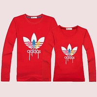 Adidas  Women Men Lover Casual Long Sleeve Top Sweater Pullover