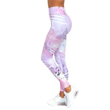 Cat Printed Fitness Leggings