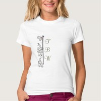 Monogram Medieval Birds and Leaves T-Shirt