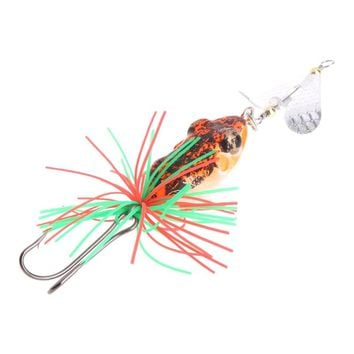 1Pc Fishing Bait Lure Artificial Frog Colorful Hook