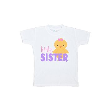 Custom Party Shop Girls' Little Sister Easter Tshirt