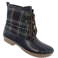 Ardyn Duck Boot - Navy Plaid