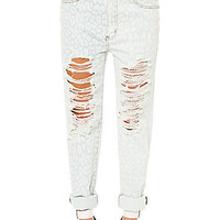The One Teaspoon Jeans Surrender Baggies in White