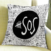 5SOS Liryc Quote Square Pillow Case Custom Zippered Pillow Case one side pillow case size 16 x 24,18 x 18,20 x 30