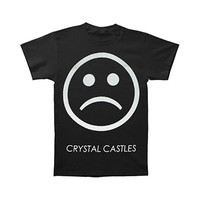 Crystal Castles Men's  Sad Face Slim Fit T-shirt Black Rockabilia