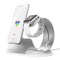 Popular desk Charging dock for Iphone8 and Apple Watch 3/2/1 Aluminum charger stand