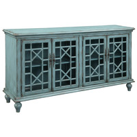 Christopher Knight Home Textured Blue Four-door Credenza | Overstock.com Shopping - The Best Deals on Coffee, Sofa & End Tables