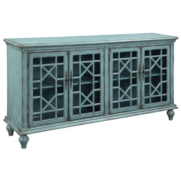 Christopher Knight Home Textured Blue Four-door Credenza   Overstock.com Shopping - The Best Deals on Coffee, Sofa & End Tables