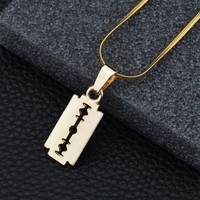 Gift Shiny Stylish New Arrival Jewelry Alloy Blade Necklace [10768842819]