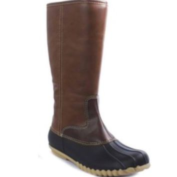 Tall Brown Duck boots