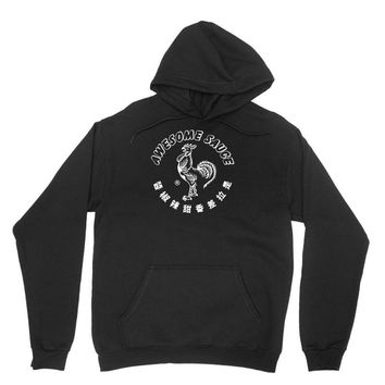 awesome sauce asian humor rooster funny cool Unisex Hoodie
