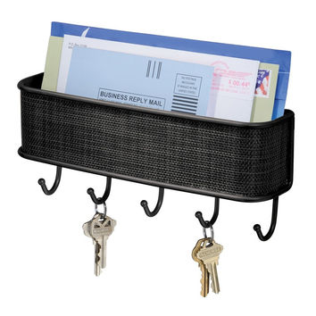 Kitchen Mail and Letter Holder with Key Rack Organizer for Entryway