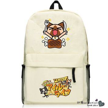 Game Monster Hunter Cosplay 2017 New Q Edition Student Campus Backpack Men & Women Leisure Travel Backpack
