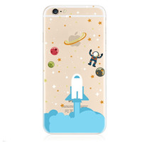 Funny Rocket Galaxy Iphone 6 6s plus Cases