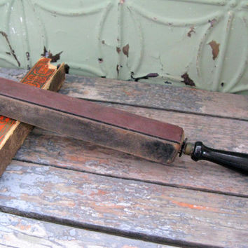 Vintage Razor Strop, Combination Strop, JR Torrey Combination Strop, Barber Strop