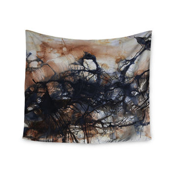 "Steve Dix ""Looking for Water"" Brown Black Wall Tapestry"
