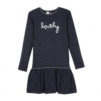 3pommes Girls' The First Snow Dress