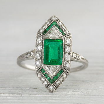 Vintage Art Deco .60 Carat Engagement Ring